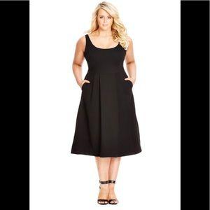 City Chic Classic Longline Fit & Flare Dress
